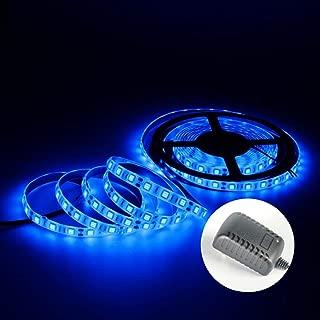LED Strip Lights with Power Supply-16.4ft/5m Flexible Strip Light Kit, 300 LED Blue Lighting Strip Waterproof LED Tape Lights for DIY Home Kitchen Car Bar Party