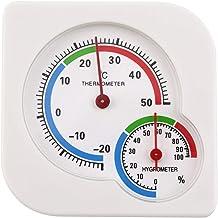 Ashley GAO Homeuse Interior Exterior 2 en 1 Mini higrómetro húmedo preciso Termómetro de Humedad Medidor de Temperatura Mecánico