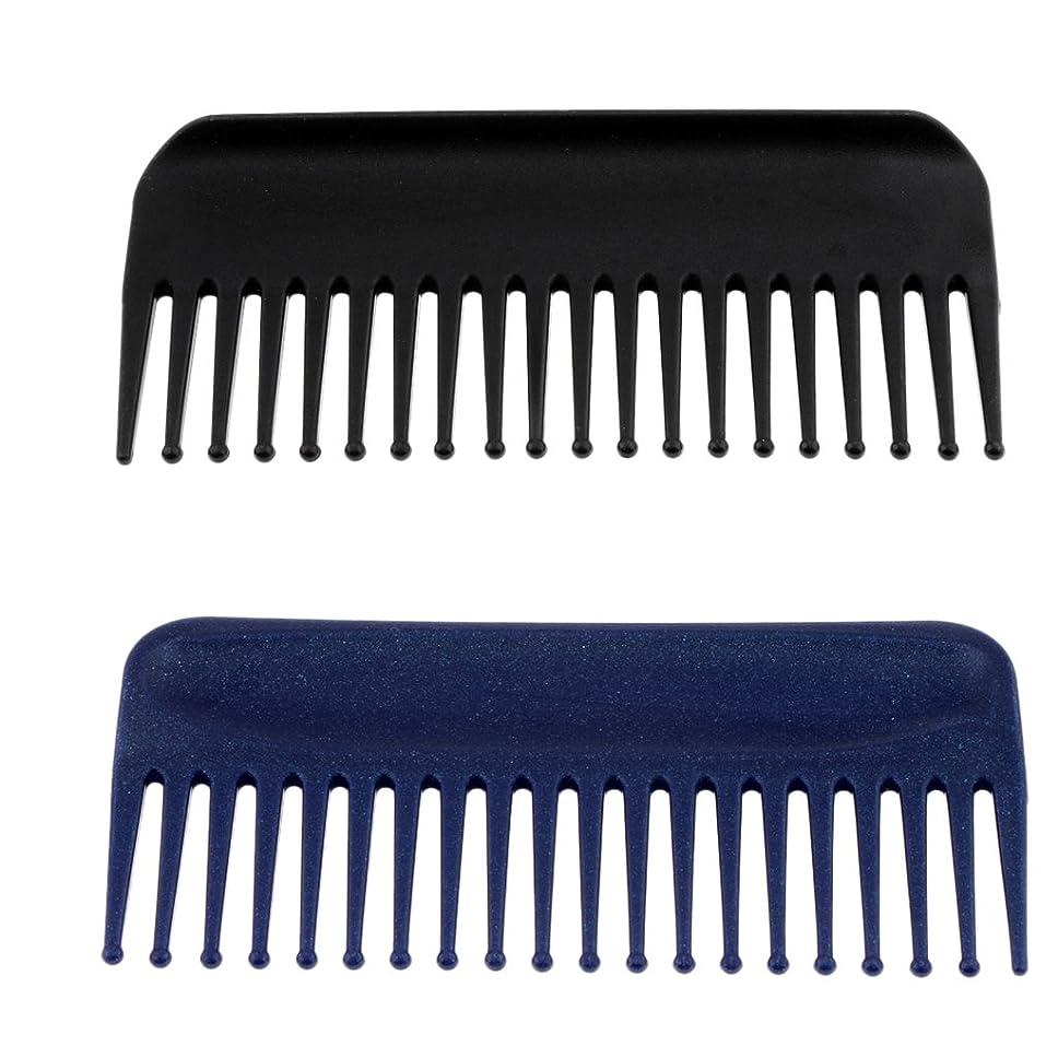 ナースインチ縮れたBlesiya コーム 櫛 ヘアコーム ヘアブラシ  マッサージ 美髪ケア 快適 プラスチック製 2個