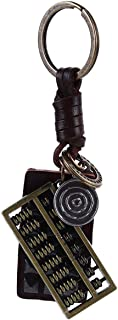 LALANG Retro Hand-Woven Creative Abacus Pendant Keychain Car Keyring Accessories