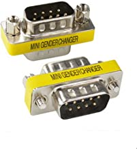 BeElion 2PCS Serial RS232 DB9 Pin Gender Male to Male Adapter,Null Modem Gender Connectors