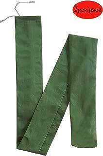 2 Pcs Long Canvas Sandbags - Barrier for Rain Flood Hurricane - Control Water (6 Feet)