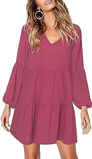 8c139e3bba Women's Short Sleeve V Neck Pocket Casual Side Split Beach Long Maxi Dress