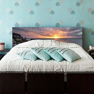setecientosgramos Cabecero Cama PVC   Sunrise   Varias Medidas   Fácil colocación   Decoración Dormitorio (150x60cm)