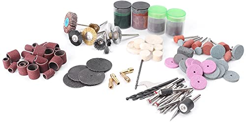 new arrival Malloufsa lowest 161Pcs Electric Rotary Tool Accessory Bit Set Mold Engraving outlet sale Grinding Polish Cutting outlet sale