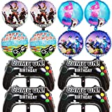 BESLIME 12 Packs Video Game Party Balloons, 23.6 x 15.7 Inch Game on Balloons Video Game Controller...