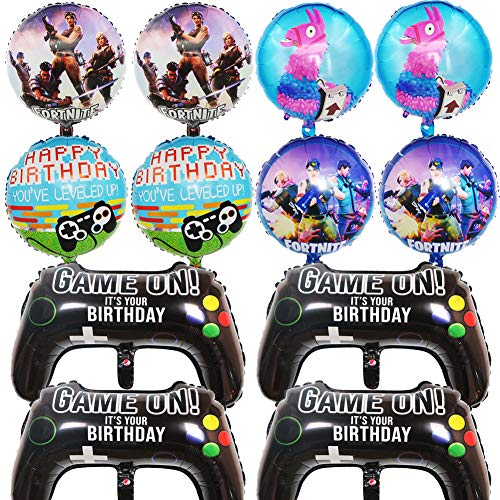 BESLIME 12 Packs Video Game Party Balloons, 23.6 x...