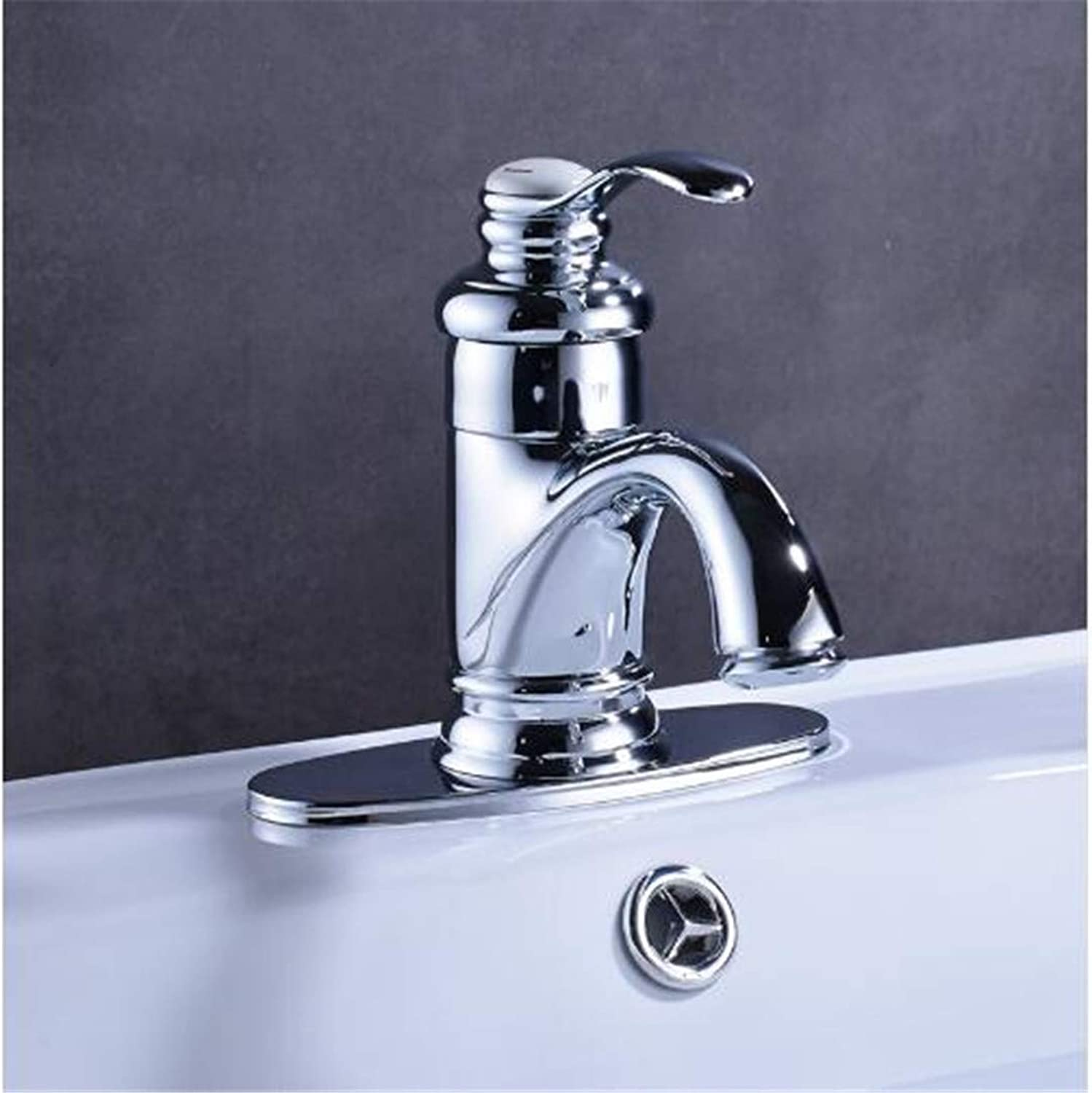 Oudan Taps Kitchen Faucet Bathroom Taps Faucet Waterfall Taphigh Quality Best Price Chrome Finish Bathroom Basin Faucet with Hole Cover Plate (color   -, Size   -)