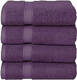 Utopia Towels - Conjunto de Toallas de baño (Paquete de 4, 69 x 137 cm) Toallas de algodón 100% Ring-Spun para Hotel y SPA, máxima suavidad y Altamente Absorbente (Ciruela)