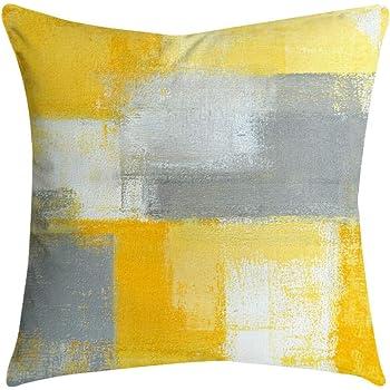 "Grey Polyester Pillow Case Sofa Waist Throw Cushion Cover Home Decor 18/""x18/"""