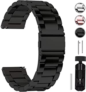 Quick Release Watch Band, Stainless Steel Watch Strap 16mm, 18mm,19mm,20mm,22mm or 24mm