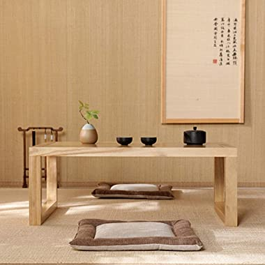 Living Room  Small Coffee Table Tatami Coffee Table Tea Table Balcony  Simple Wooden Table (Color : Wood Color, Size : 60x40x