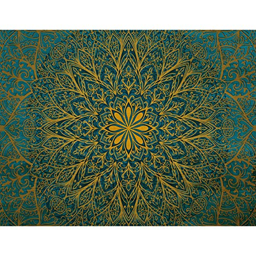 Fotobehang Mandala Fleece Wallpaper Woonkamer Slaapkamer Kantoorgang Decoratie Muralen Moderne Wanddecoratie - 100% Made in Germany - 9093bP 352 x 250 cm - 8 sheet stripes B