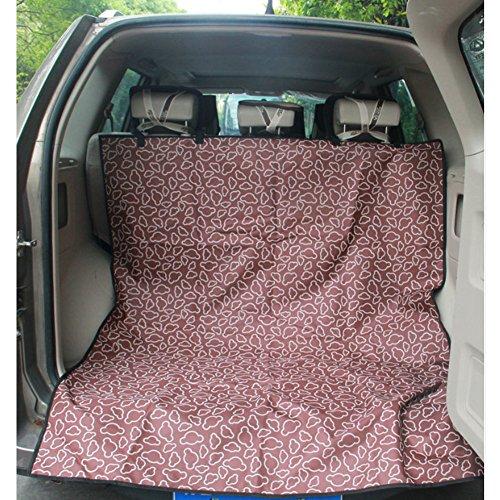 Seat étanche Car Cover Pet Dog Mat Voyage pour SUV Trunk, café Couverture