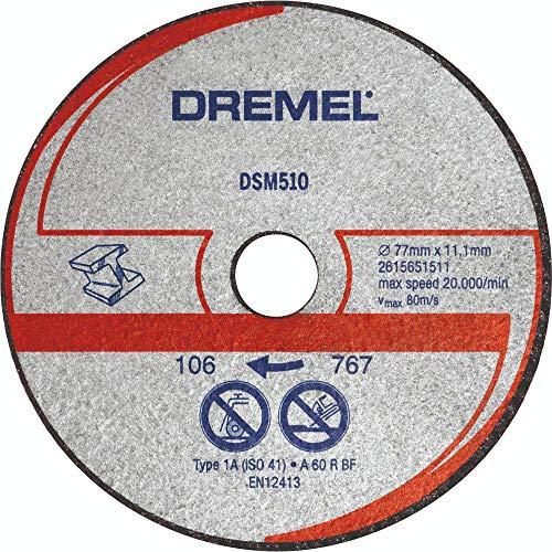 Dremel DSM510 Multifunktions Trennscheibe Multipack, Zubehörsatz mit 3 Trennscheiben 77mm für die Kreissäge zum Sägen und Trennen von Holz und weichen Materialien