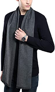 Iristide Men's Winter Scarf Soft Warm Cashmere Feel Formal Business Muffler for Men 30x180cm