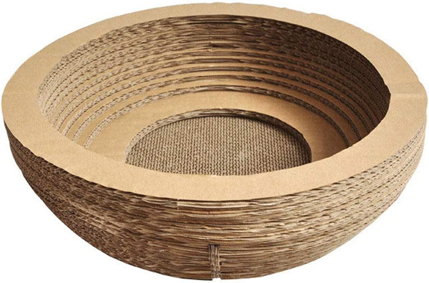 Cat Scratch Board Pad,Large Space Bowl Type Toy,Kitten Corrugated Paper Pad Cats Grinding Nail Scraper Mat Mattress Nest Cat Scratcher for Grinding Claws Body Massage Rest Scratch
