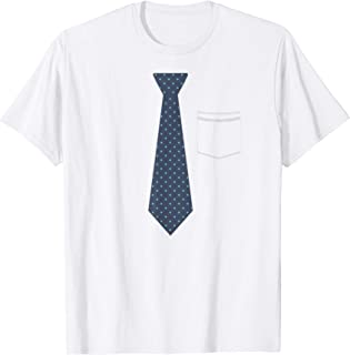 Funny fake tie w pocket t-shirt