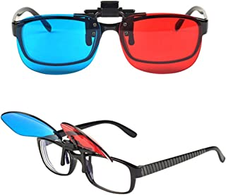 3D Glasses Red-Blue/Cyan Anaglyph 3D Clip-on Glasses 3D Movie Game