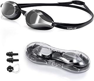 TOPLUS simglasögon justerbara simglasögon med näsbro, silverglas UV-skydd inget läckage för vuxna män kvinnor och barn