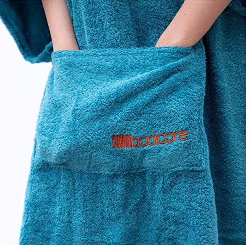 booicore 'Midi'' - Toalla cambiadora con capucha para natación, surf, ciclismo, playa, color turquesa