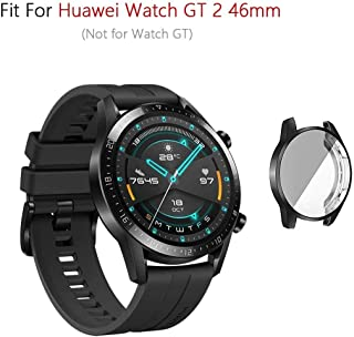 M.G.R.J® Soft & Flexible Full Covered TPU Case Cover for Huawei Watch GT 2 46mm (Sport/Classic/Elite Edition) (Black)