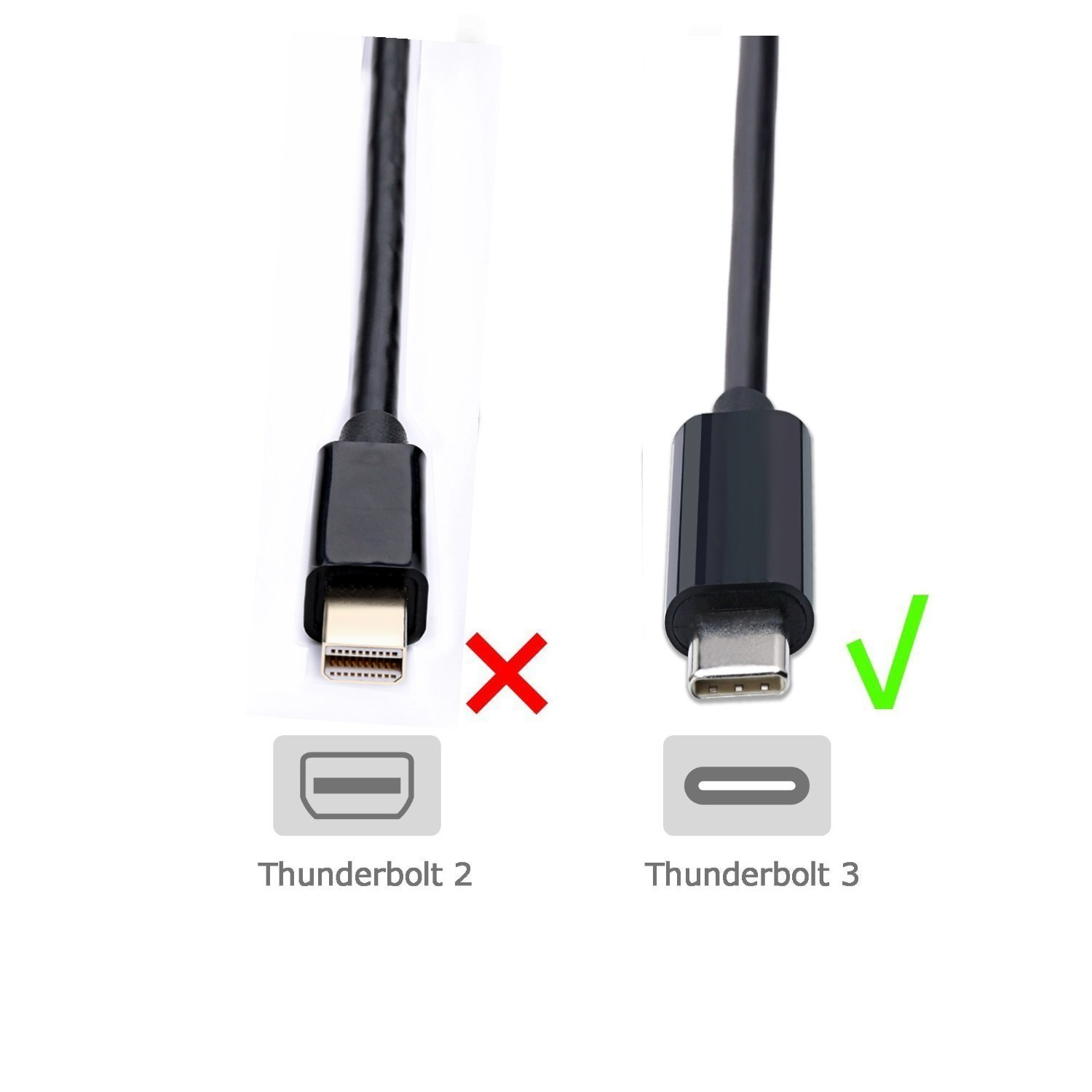 CABLEDECONN USB C to DVI Cable USB 3.1 Type C to DVI M Adapter Cable 1.8M for 2017 MacBook Pro Components Other D0305 Black USB-C