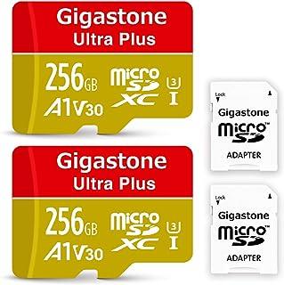 【5年保証 】Gigastone 256GB マイクロSDカード A1 V30 2pack 2個セット Ultra HD 4K ビデオ録画 高速4Kゲーム Nintendo Switch 動作確認済 95MB/s マイクロ SDXC UHS-I U3 C10 Class 10 メモリーカード SD 変換アダプタ付