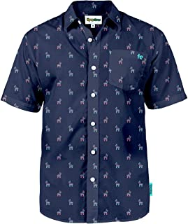 Tipsy Elves Men's Summer Hawaiian Button Down Shirts - Short Sleeve Aloha Shirt Vacation Clothing