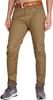 ITALY MORN Men's Casual Pant Classic Relaxed Fit Stretch Khaki