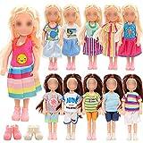 Festfun 12 Pcs Vêtement & Accessoires de Poupée 5 Robes Chics + 5 Vêtements avec 2 Chaussures pour Chelsea Poupée
