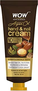 WOW Skin Science Moroccan Argan Oil Hand & Nail Cream - Nourishing & Repairing - Lightweight & Non-Greasy - Quick Absorb -...