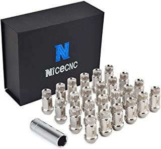 Nicecnc 24PCS 14x1.5MM T304 Stainless Steel Anti-Rust,Corrosion Wheel Lug Nuts & Tool Replace D-odge Charger Challenger Magnum,Hellcat Challenger Charger SRT,SILVERADO GMC HUMMER,CAMARO 08+