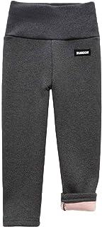 HINK Pantalones para niñas, Pantalones de chándal de Cintura Alta para bebés y niños, Pantalones elásticos de algodón, Pol...