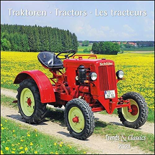 Traktoren Tractors 2021 - Broschürenkalender - Wandkalender - mit Schulferientabelle und Jahresübersicht 2021 - Format 30 x 30 cm