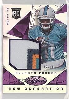 Devante Parker #2/10 Devante Parker (Football Card) 2015 Panini Certified - New Generation Jerseys - Mirror Purple #NG-DP