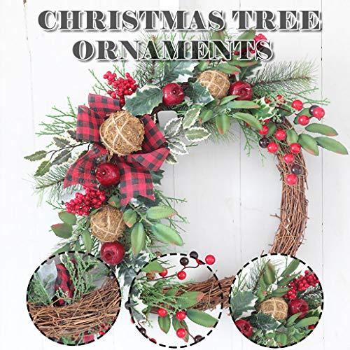 Christmas Decoration Wreath Vine Ring Door Hanging Needles Apple Wreath, Decoration & Hangs, Home & Garden (red)