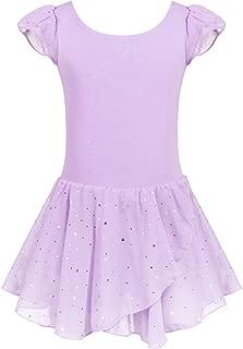 Girls Ruffle Sleeve Ballet Dance Dress Glitter Tutu...