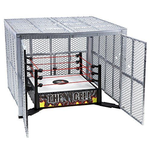 WWE Wrestling Superstar Rings The Cell Action Figure Playset [2015] (Mattel Toys)