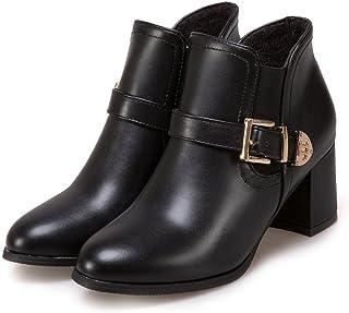 fa04378998d09a CXQ-Bottes QIN&X Talon Bloc Femmes Heels Boots à tête Ronde Chaussures  Plate-Forme