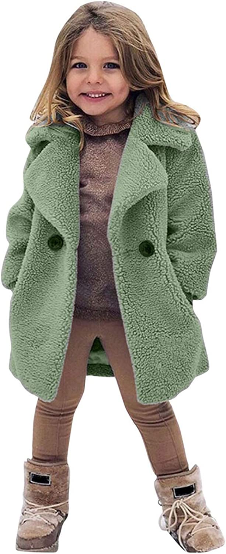 B/éb/é Manteaux dhiver pour 1-6 Ans Filles Enfants Enfant en Bas /âge Fausse Fourrure Polaire Trench-Coat Hiver Chaud Manteaux Vestes v/êtements dext/érieur