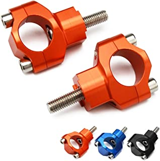 """JFG RACING 1 1/8"""" 28mm CNC HandleBar Risers Bar Mounts Clamps For 125-530 SX SXF EXC EXCF XCW XCFW 00-16"""