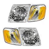 Headlight Headlamp Park Light Lamp Kit Set of 4 for Ford Explorer Sport Trac