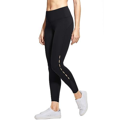ec47eb1510 CRZ YOGA Women's Naked Feeling Stretch High Waist 7/8 Sports Tight Yoga  Leggings Workout