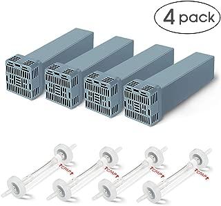Cartridge Filter Kit for SoClean 2, Mckain Generic CPAP Filter Replacement Includes 4 Cartridge Filters and 4 Check Valve, Cartridge Carbon Filter Kit Supplies (Set of 4)