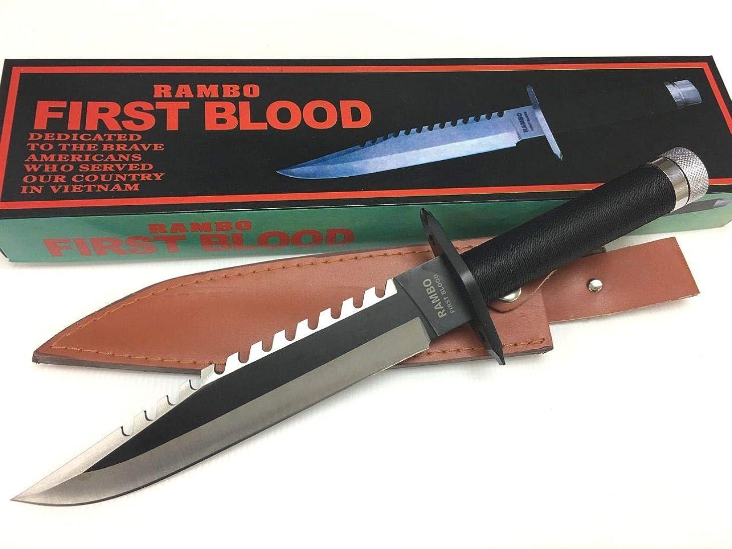 お願いします囲まれたメンタリティRAMBO1 ランボー1 サバイバルナイフ 極厚ブレード RAMBO FIRST BLOOD フィッシング ハンティング