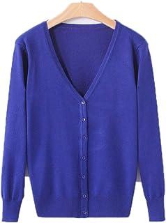 Guy Eugendssg Knitted Cardigan Women Spring Autumn V-Neck Women's Sweater Cardigan Single Button Pull Coat