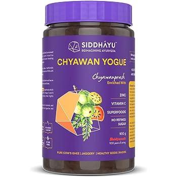 Siddhayu Chyawan Yogue I Ayurvedic Immunity booster for adults and kids | Jaggery | Sugar free Chyawanprash | Vitamin C Zinc Raisins and Superfoods avaleha lehyam
