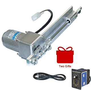 BEMONOC DIY Design 110V AC Reciprocating Motor, Linear Actuator Stroke 100mm/4inch 75RPM + 15 Watts AC Speed Controller Kits for Incense Squirt Spraying Pellet Mechanism