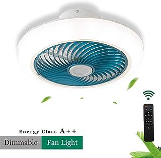 LMDX Ventiladores De Pared con Mando - Fan - Silencioso,Velocidad del Viento Ajustable,Creatividad Moderna Plafóns,Potent Ventilador Techo